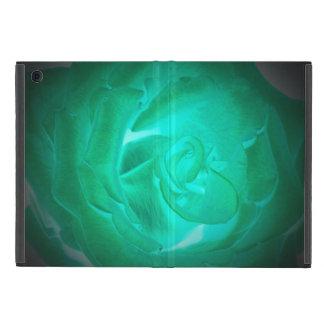 ターコイズのバラの写真、模造白熱 iPad MINI ケース