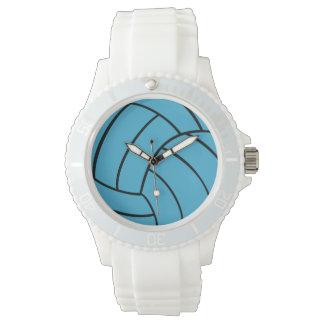 ターコイズのバレーボールの腕時計 腕時計