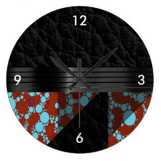 ターコイズのバーガンディのチータ ラージ壁時計