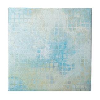 ターコイズのパステル調の幾何学的な浴室のタイル タイル
