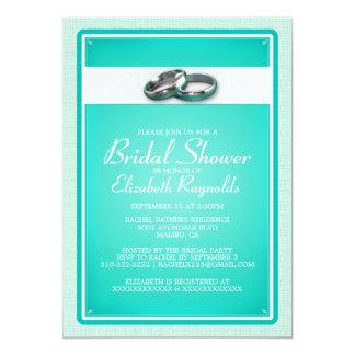ターコイズのブライダルシャワー招待状 カード
