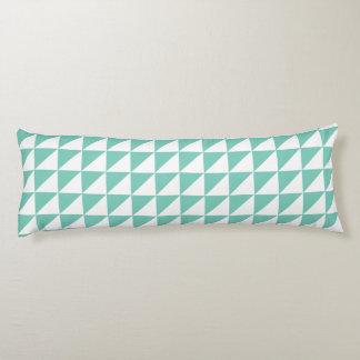 ターコイズのモダンで幾何学的な抱き枕 ボディピロー