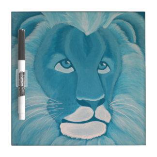 ターコイズのライオンのホワイトボード ホワイトボード