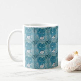 ターコイズのライオンのマグ コーヒーマグカップ