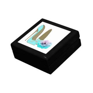 ターコイズのレースの小剣の靴およびばら色の芸術 ギフトボックス