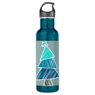 ターコイズの不完全なクリスマスツリー ウォーターボトル