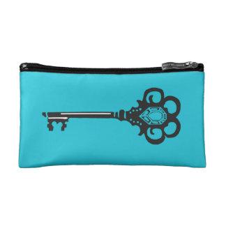 ターコイズの主化粧品のバッグ コスメティックバッグ