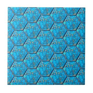 ターコイズの六角形のタイル タイル