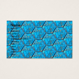 ターコイズの六角形のタイル 名刺
