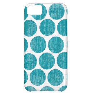 ターコイズの動揺してな水玉模様のiPhone iPhone5Cケース