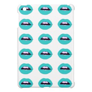 ターコイズの唇のiPad Miniケース iPad Mini カバー