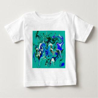 ターコイズの大理石の質 ベビーTシャツ