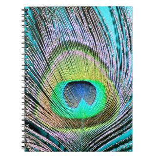 ターコイズの孔雀の羽 ノートブック