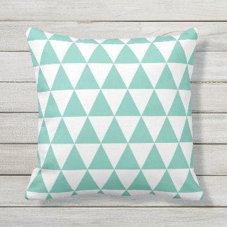 ターコイズの屋外の枕-三角形パターン アウトドアクッション