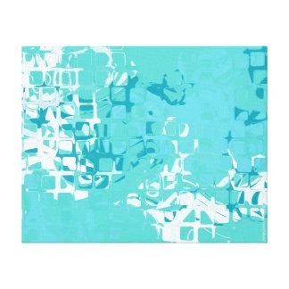 ターコイズの抽象美術のキャンバス キャンバスプリント