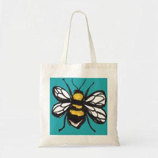 ターコイズの控え目な《昆虫》マルハナバチのバッグ トートバッグ