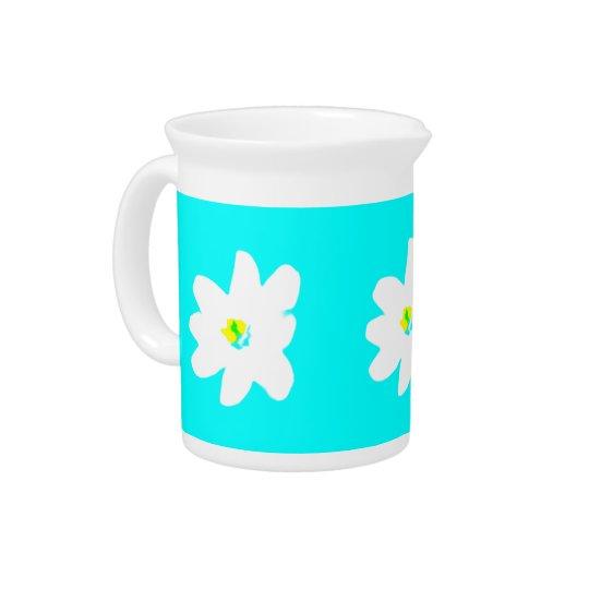 ターコイズの日光の花柄4Penelope ピッチャー