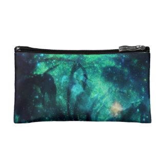 ターコイズの星およびリボンの化粧品またはクラッチ・バッグ コスメティックバッグ