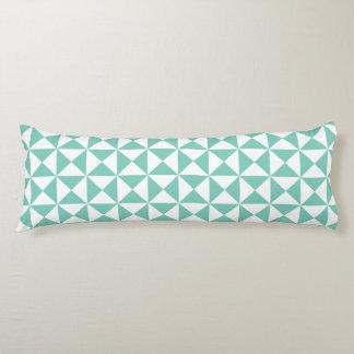 ターコイズの格子垣パターン抱き枕 ボディピロー