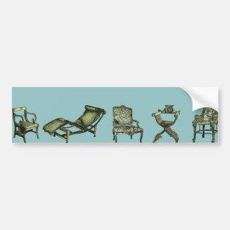 ターコイズの椅子のポスター バンパーステッカー