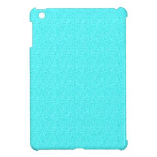 ターコイズの水の青いリネン一見 iPad MINIケース