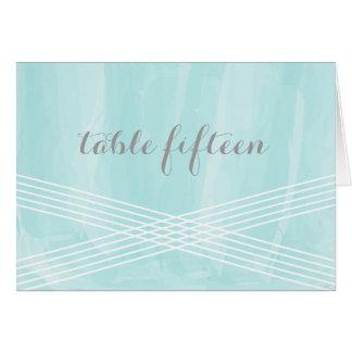 ターコイズの水彩画のDecoのテーブル数 グリーティングカード