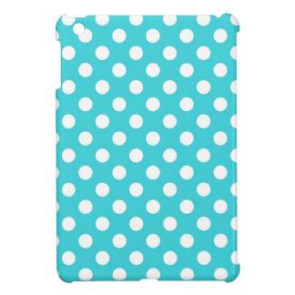 ターコイズの水玉模様 iPad MINI カバー