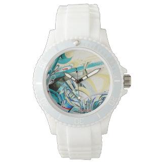 ターコイズの波のスポーツの腕時計 腕時計