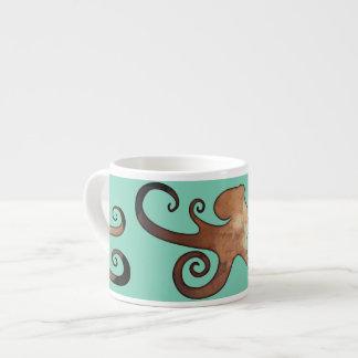 ターコイズの海の陶磁器のエスプレッソのマグのタコ エスプレッソカップ