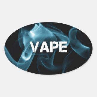 ターコイズの煙Vape 卵形シール・ステッカー