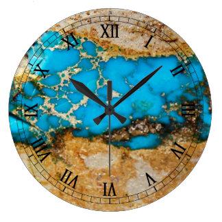 ターコイズの石1 ラージ壁時計