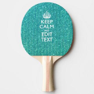 ターコイズの穏やかで名前入りな文字を保って下さい 卓球ラケット