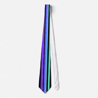 ターコイズの紫色のストライブ柄 オリジナルネクタイ