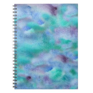 ターコイズの紫色の螺線形ノート ノートブック
