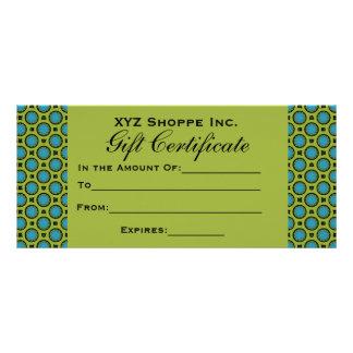 ターコイズの緑のギフト券 10.2CM X 22.9CM ラックカード