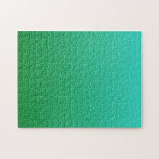 ターコイズの緑のグラデーション ジグソーパズル