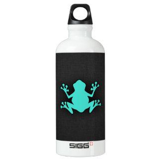 ターコイズの緑カエル ウォーターボトル