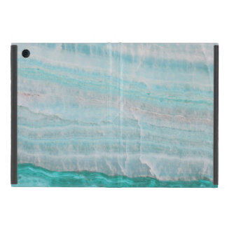 ターコイズの花こう岩の石によって層にされる波のプリント iPad MINI ケース