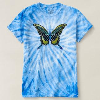 ターコイズの蝶83 Tシャツ