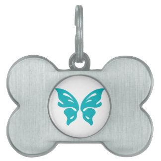 ターコイズの蝶 ペットネームタグ
