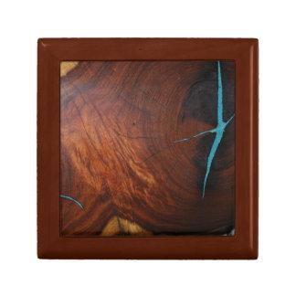 ターコイズの象眼細工のイメージのギフト用の箱を持つMESQUITE ギフトボックス