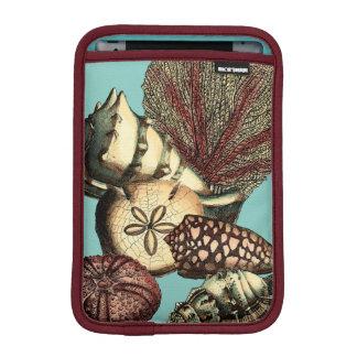 ターコイズの貝および赤い珊瑚のコレクション iPad MINIスリーブ