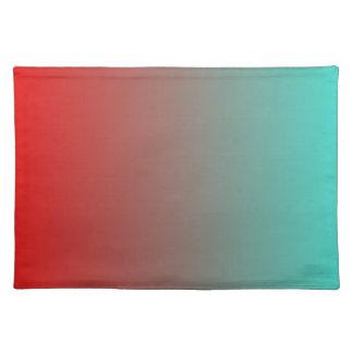 ターコイズの赤いグラデーション プレースマット