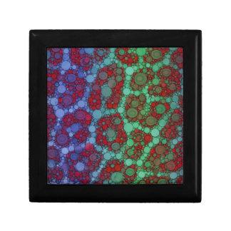 ターコイズの赤いチータの抽象芸術 ギフトボックス