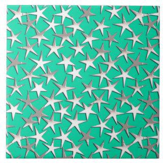 ターコイズの銀製の星 タイル