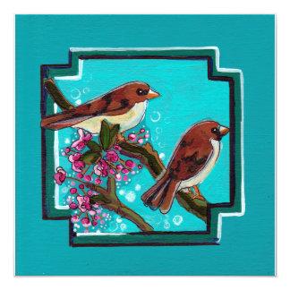 ターコイズの鳥の絵画 カード