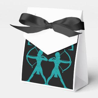 ターコイズのArcherのギフト用の箱 フェイバーボックス