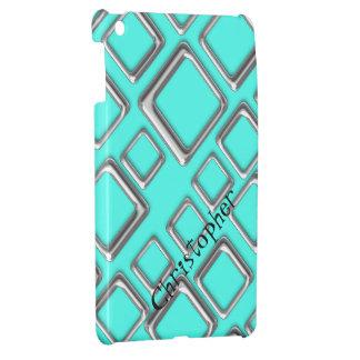 ターコイズのiPad Miniケースのテンプレートの銀製の正方形 iPad Mini Case