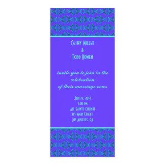 ターコイズのTikiの紫色の結婚式 カード