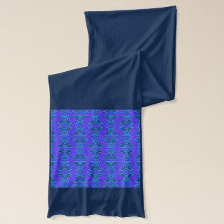 ターコイズのTiki紫色のパターン スカーフ